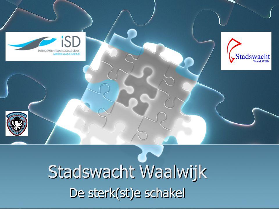 05 oktober 2006workshop Stadswacht Waalwijk12 Kansen (2) Vergroten buurtbedrijvigheid Buurten schoon, heel en veilig Integrale samenwerking: afdelingen Welzijn, Sociale Zaken, Onderwijs Economische Zaken Enz.