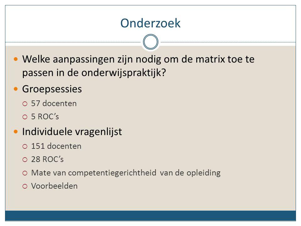Matrix voor competentiegericht beroepsonderwijs 1.