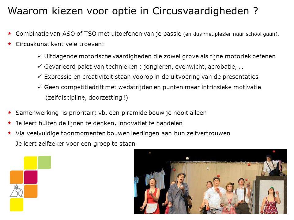 Waarom kiezen voor optie in Circusvaardigheden .