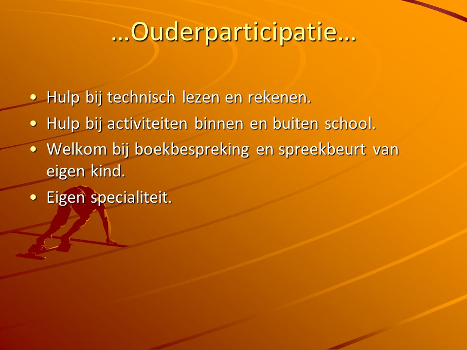 …Specifieke zaken van groep 6… SchooltuinSchooltuin Engels : Take it easy!Engels : Take it easy! Zone-parc (helden)Zone-parc (helden) CITO-entree toet