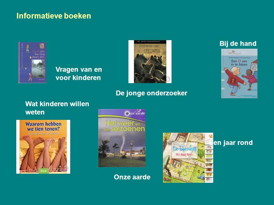 Informatieve boeken Wat kinderen willen weten Bij de hand Vragen van en voor kinderen De jonge onderzoeker Onze aarde Een jaar rond