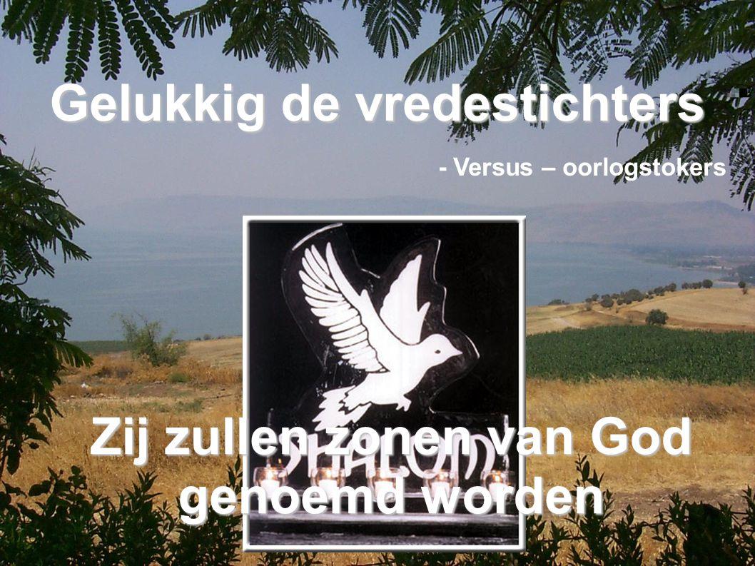 Gelukkig de vredestichters - Versus – oorlogstokers Zij zullen zonen van God genoemd worden