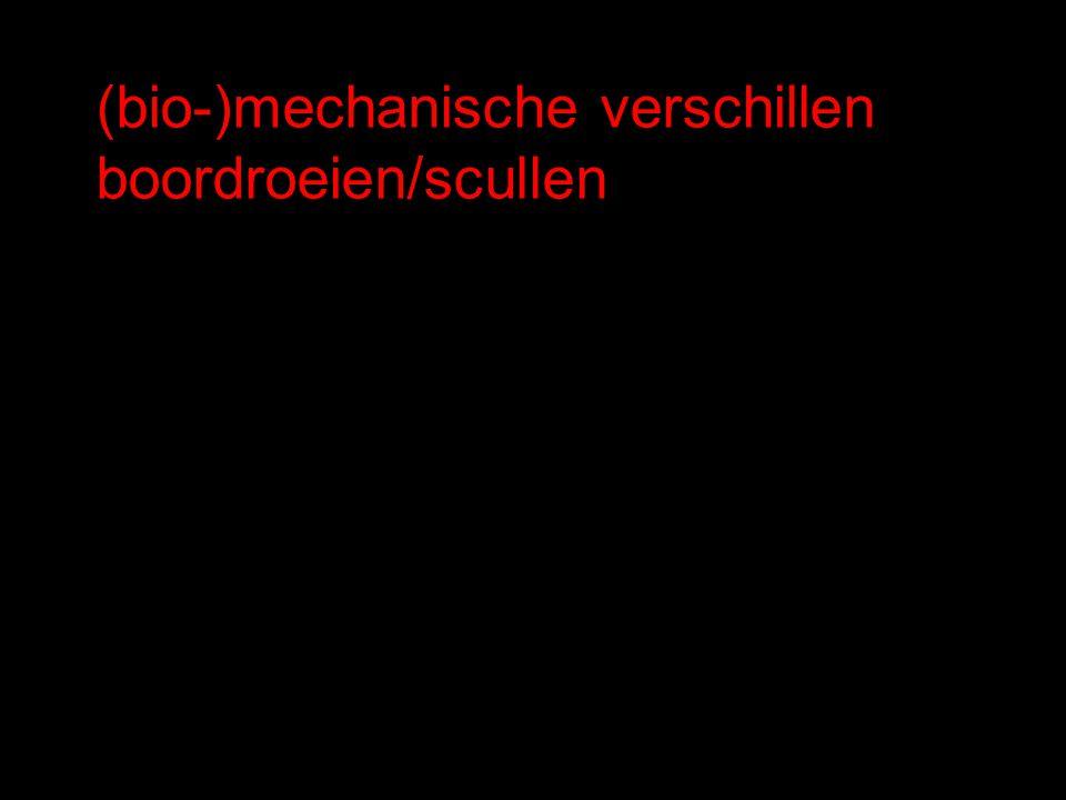 (bio-)mechanische verschillen boordroeien/scullen