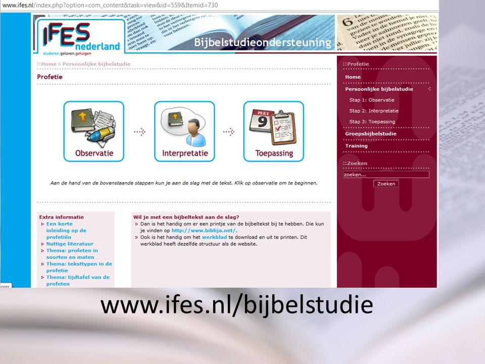 www.ifes.nl/bijbelstudie