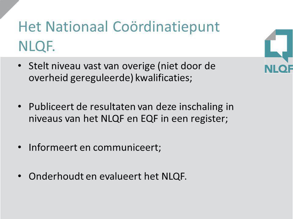 Procedure NLQF private opleiders Stappen: 1.