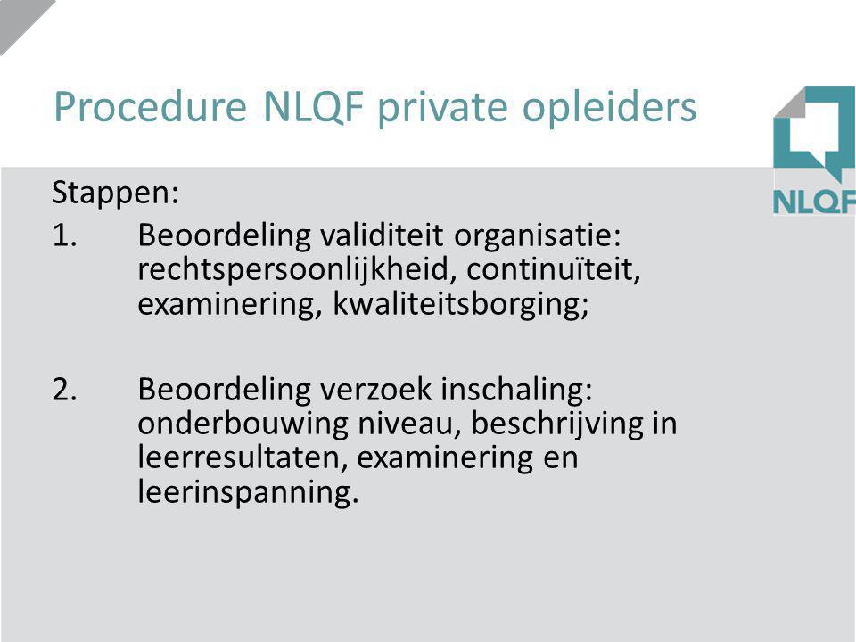 Hoe worden niveaus van kwalificaties beschreven.