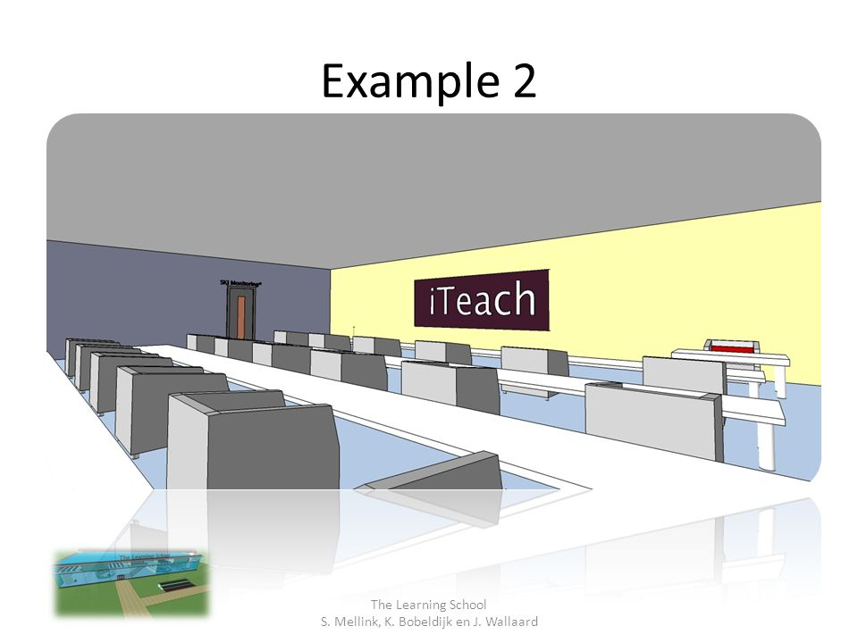 Example 3 The Learning School S. Mellink, K. Bobeldijk en J. Wallaard