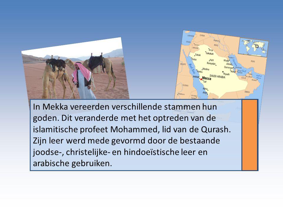 In Mekka vereerden verschillende stammen hun goden.