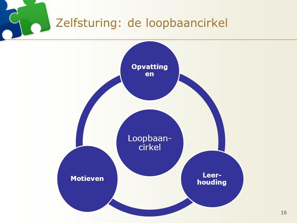 Zelfsturing: de loopbaancirkel 16 Loopbaan- cirkel Opvatting en Leer- houding Motieven