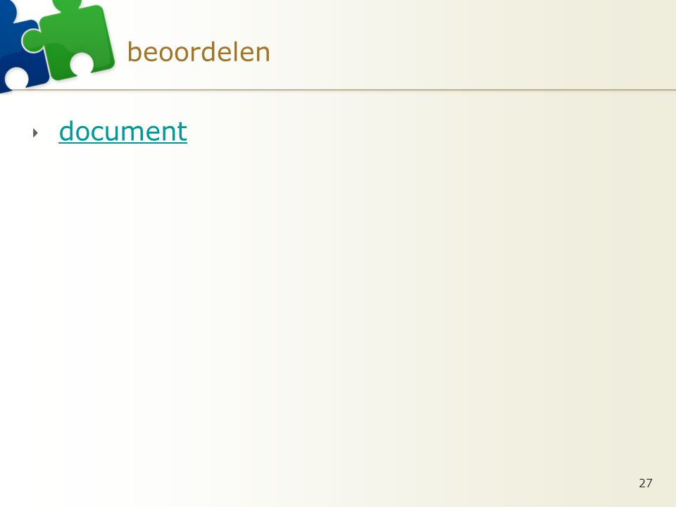 beoordelen  document document 27