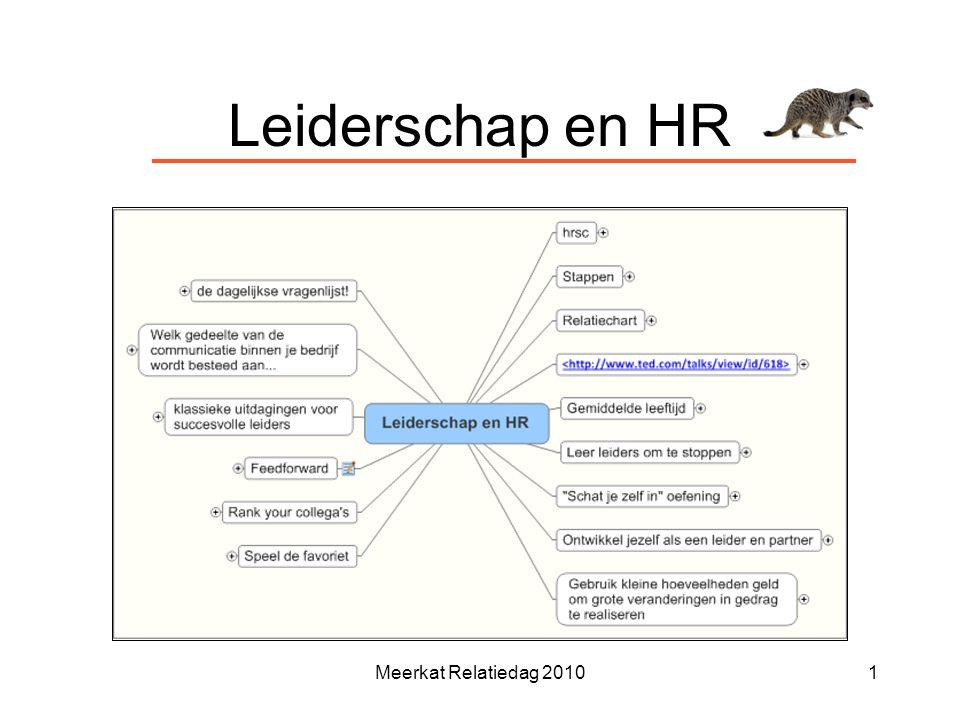Leiderschap en HR Meerkat Relatiedag 20101