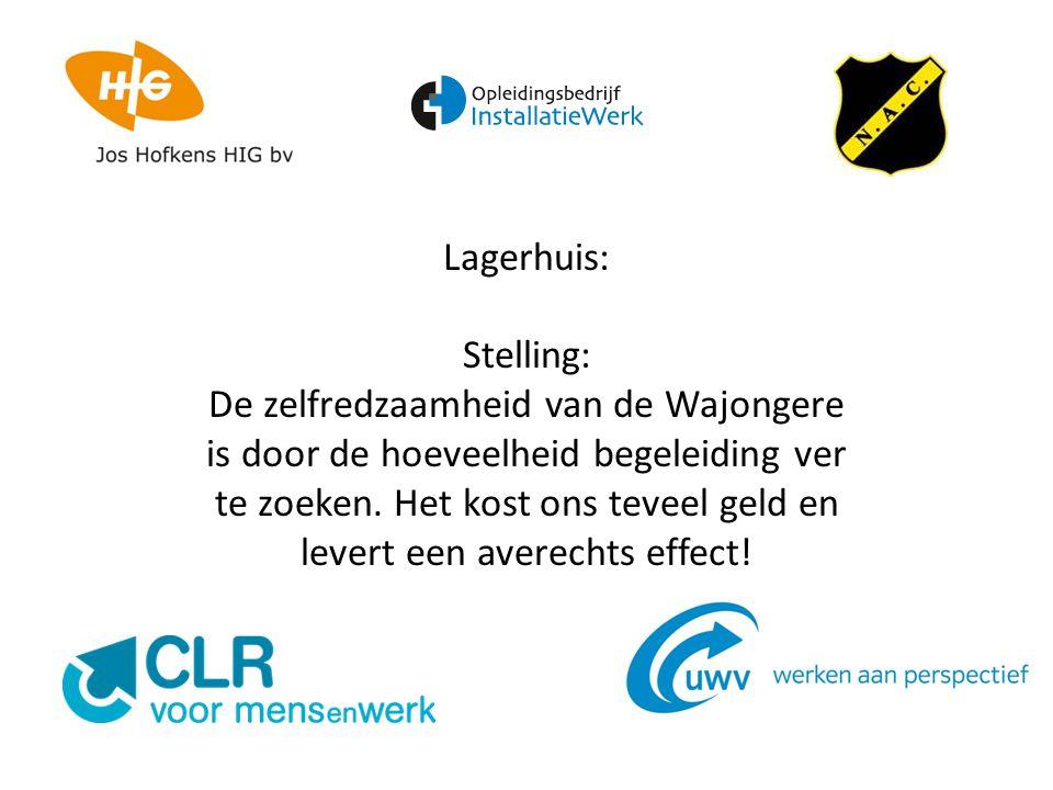 Lagerhuis: Stelling: De zelfredzaamheid van de Wajongere is door de hoeveelheid begeleiding ver te zoeken.