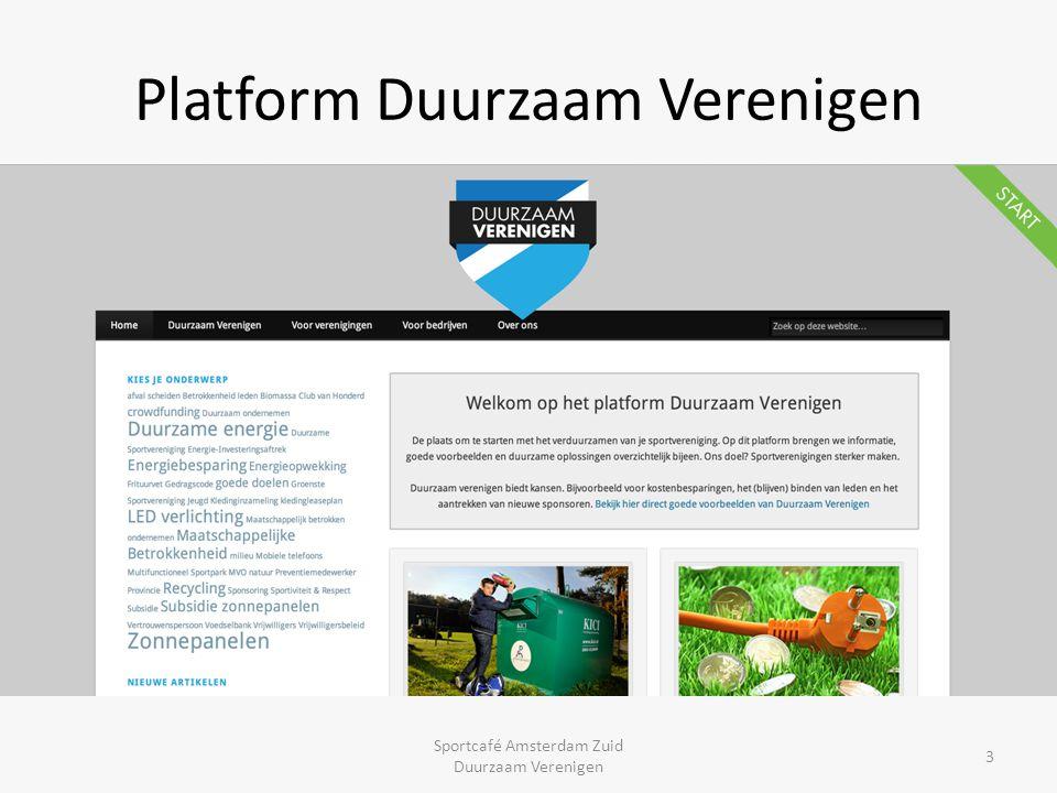 Platform Duurzaam Verenigen Sportcafé Amsterdam Zuid Duurzaam Verenigen 3