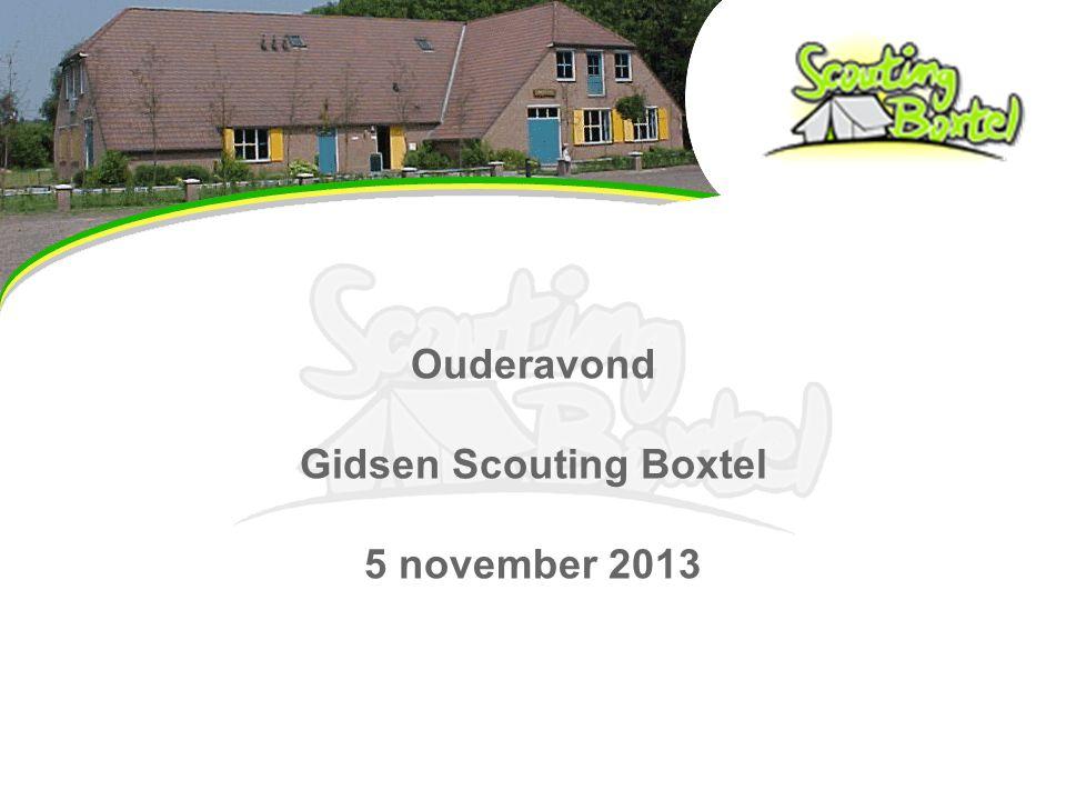 Ouderavond Gidsen Scouting Boxtel 5 november 2013