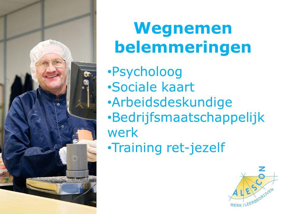 Wegnemen belemmeringen Psycholoog Sociale kaart Arbeidsdeskundige Bedrijfsmaatschappelijk werk Training ret-jezelf