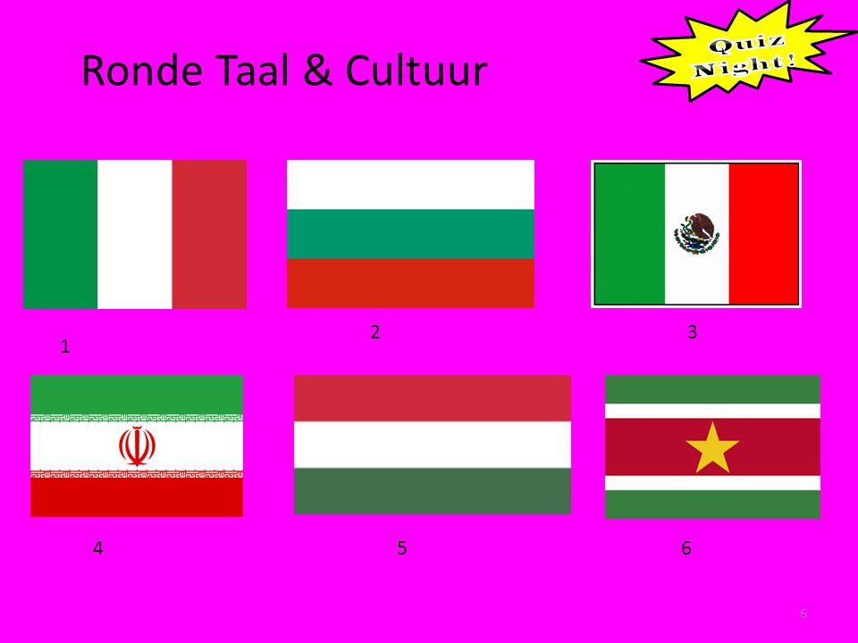 Ronde Taal & Cultuur 6 1 23 456