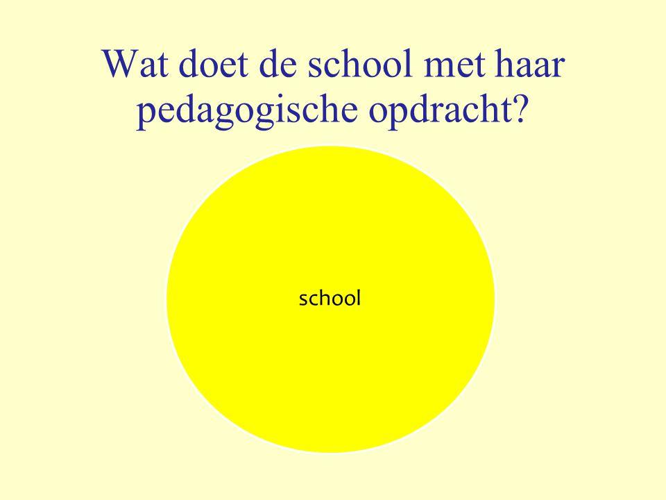Wat doet de school met haar pedagogische opdracht school