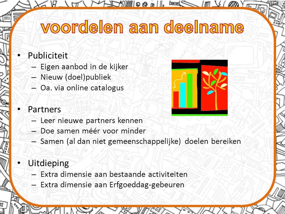 Publiciteit – Eigen aanbod in de kijker – Nieuw (doel)publiek – Oa.