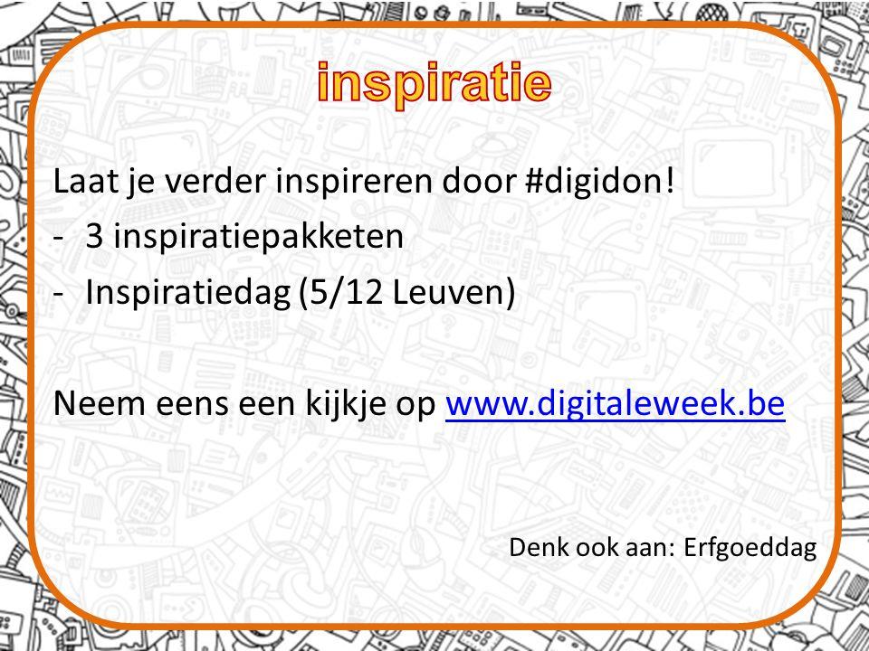 Laat je verder inspireren door #digidon.