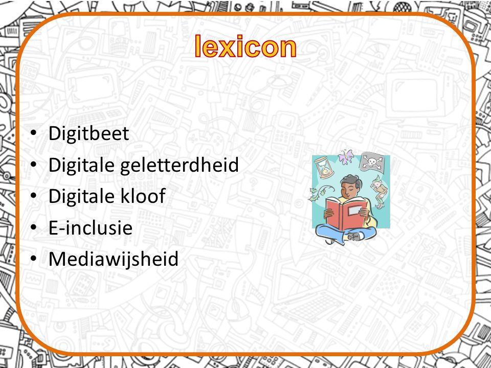 Digitbeet Digitale geletterdheid Digitale kloof E-inclusie Mediawijsheid