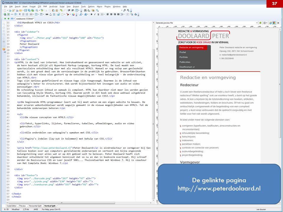 De gelinkte pagina http://www.peterdoolaard.nl 37