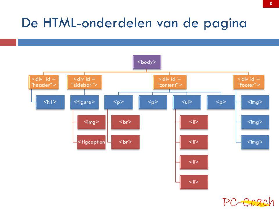 De HTML-onderdelen van de pagina <figcaption 8