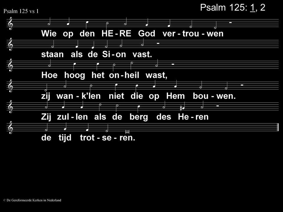Psalm 125: 1, 2