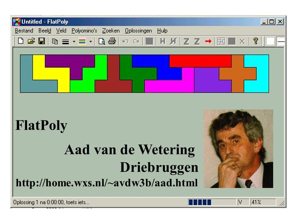 FlatPoly Aad van de Wetering Driebruggen http://home.wxs.nl/~avdw3b/aad.html