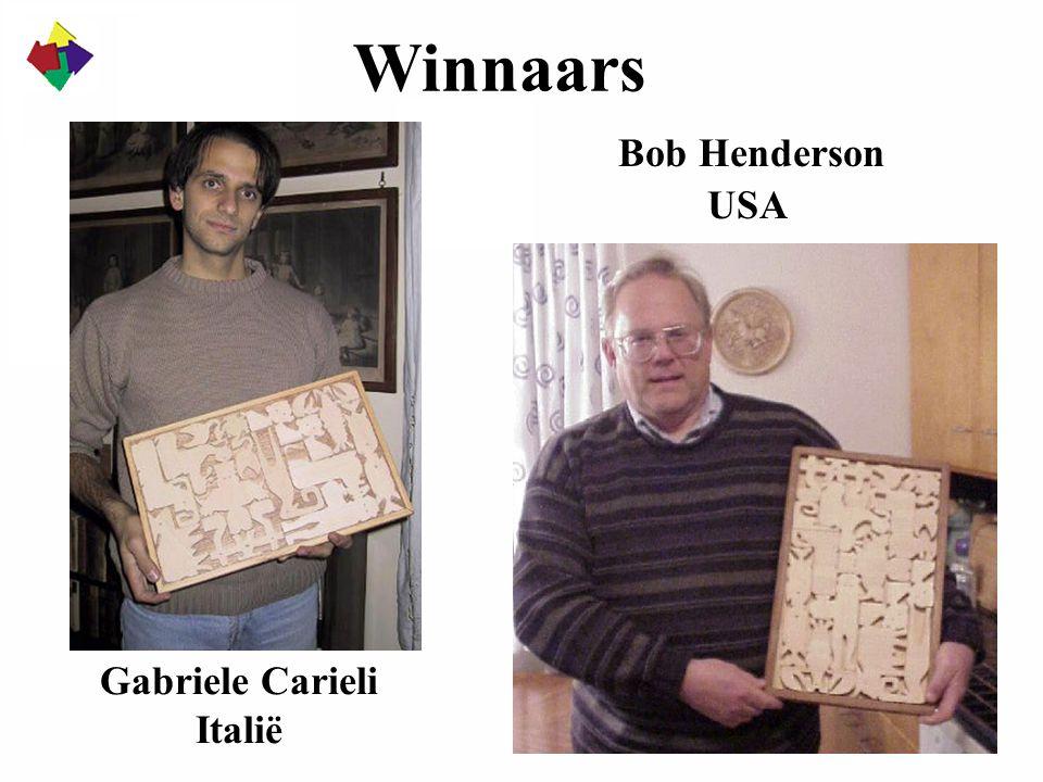 Winnaars Gabriele Carieli Italië Bob Henderson USA