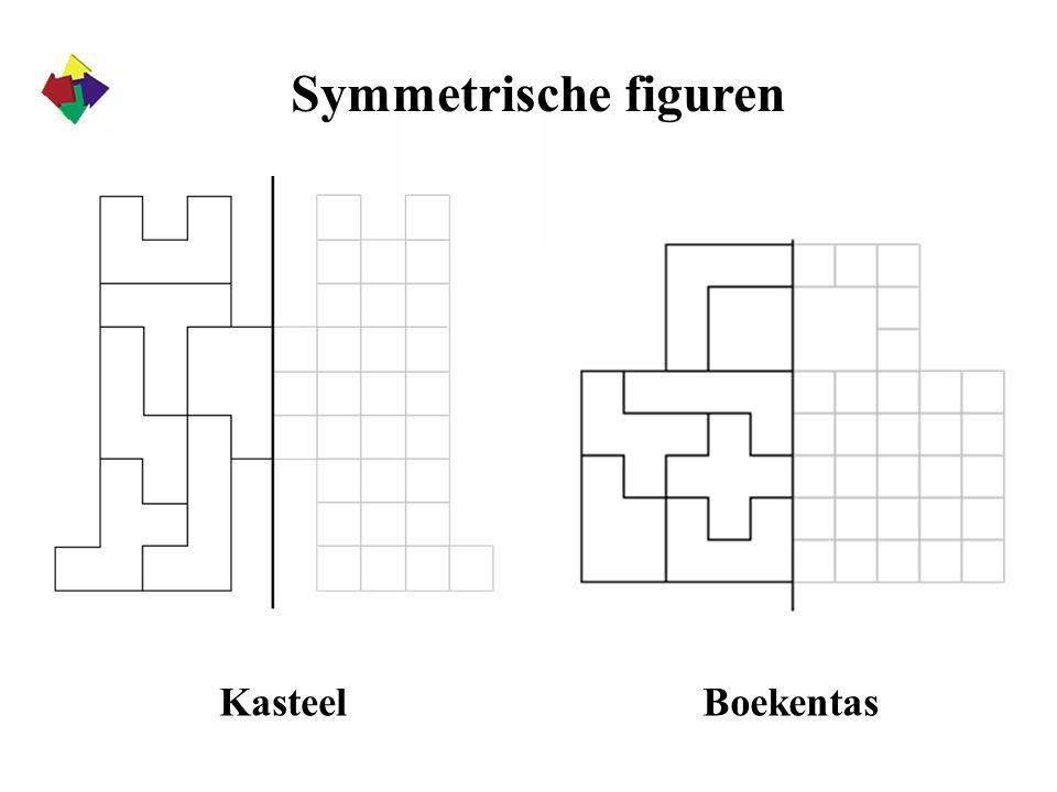 Symmetrische figuren KasteelBoekentas