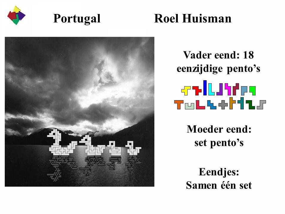 Portugal Roel Huisman Vader eend: 18 eenzijdige pento's Moeder eend: set pento's Eendjes: Samen één set