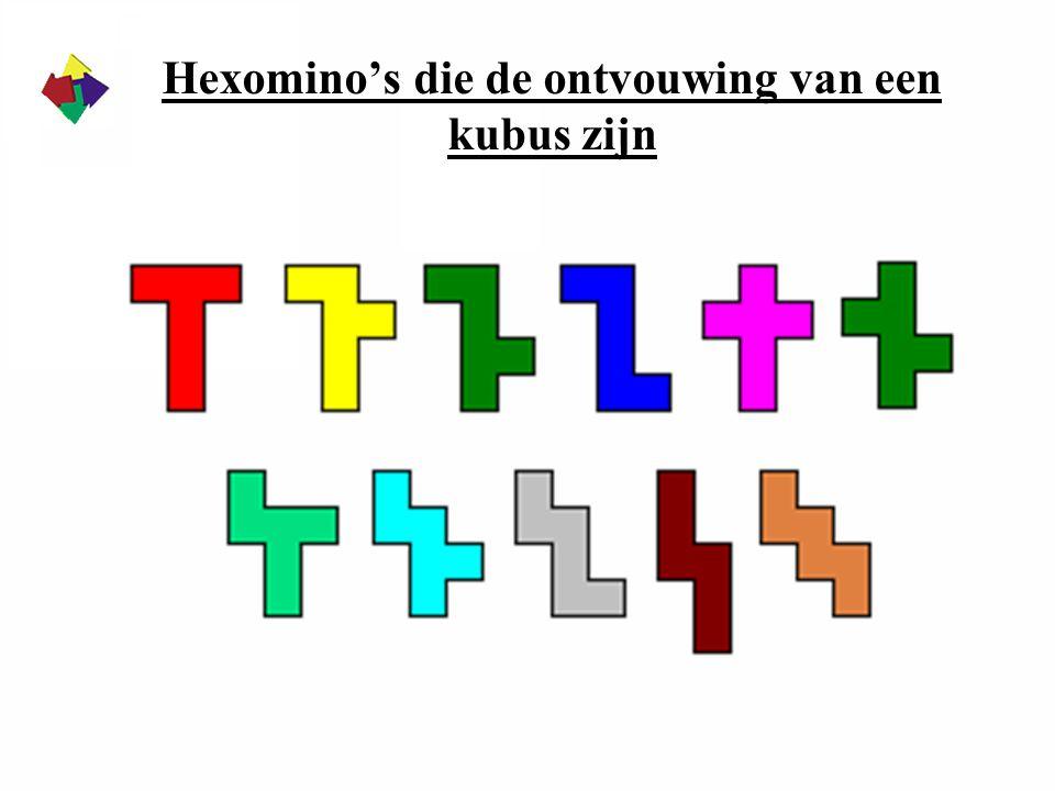 Hexomino's die de ontvouwing van een kubus zijn