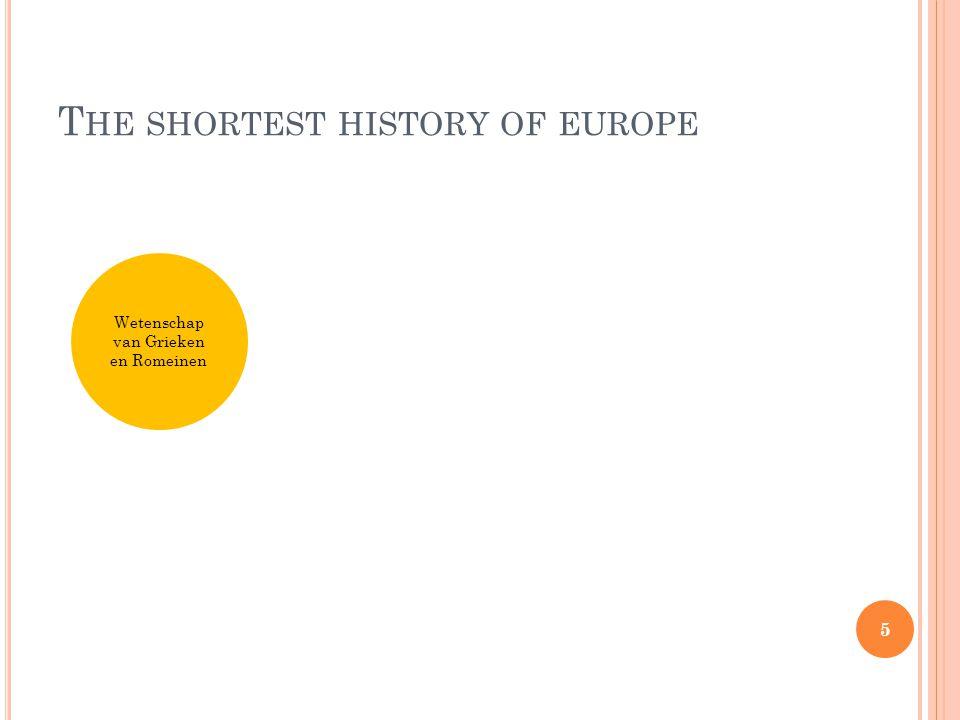 T HE SHORTEST HISTORY OF EUROPE Wetenschap van Grieken en Romeinen Christendom 6