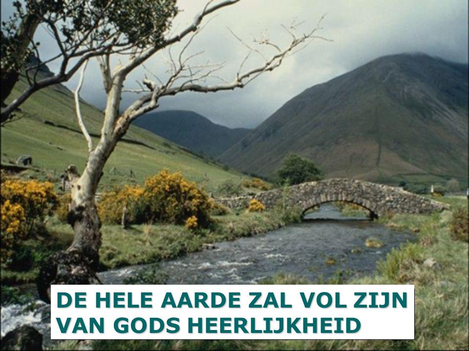 DE HELE AARDE ZAL VOL ZIJN VAN GODS HEERLIJKHEID