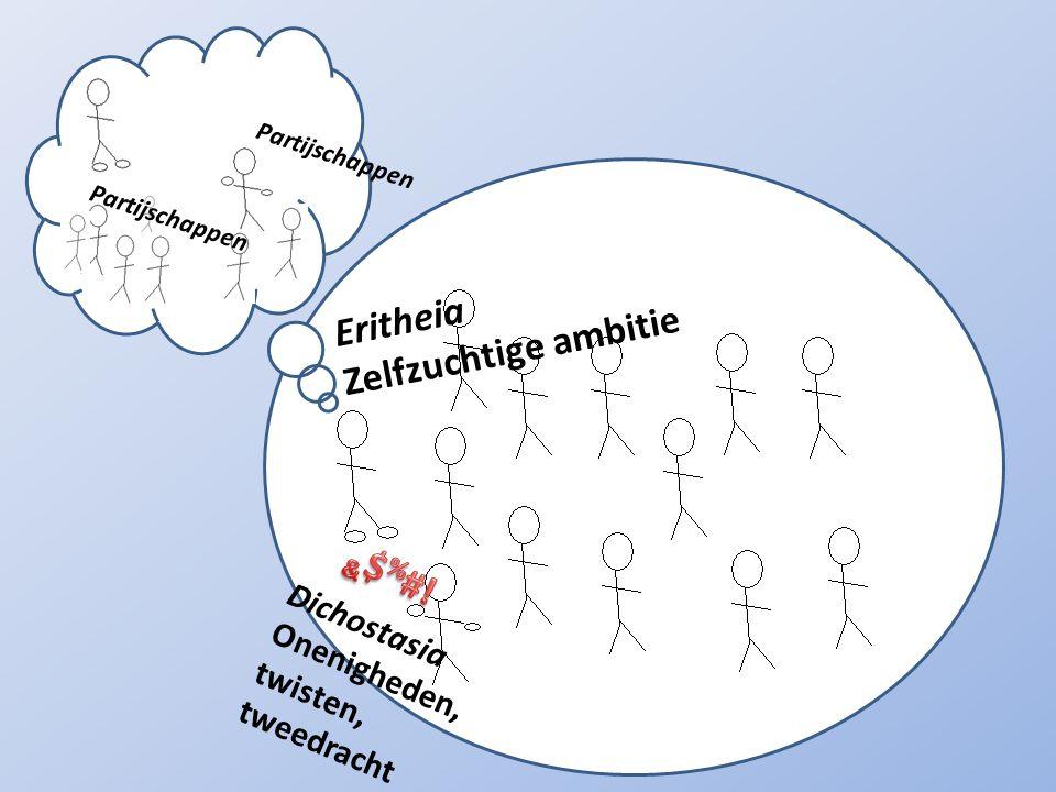 Partijschappen Eritheia Zelfzuchtige ambitie Dichostasia Onenigheden, twisten, tweedracht