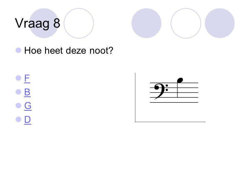 Vraag 19 Hoe heet deze noot? A B E C