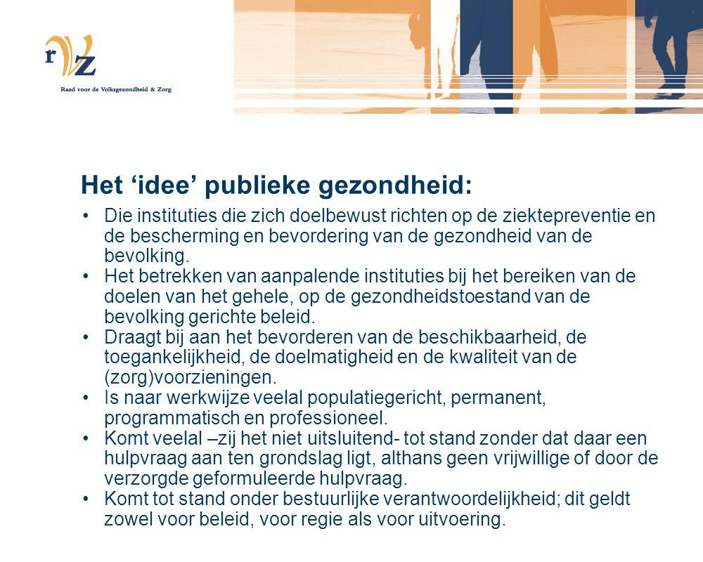 Versterking van publieke gezondheid door articulering van (formele) instituties.