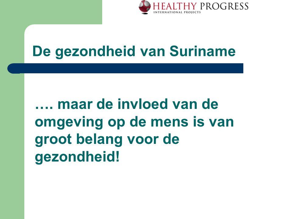 De gezondheid van Suriname We willen dus zoveel mogelijk weten over ziekte en gezondheid van mensen én van hun omgeving!