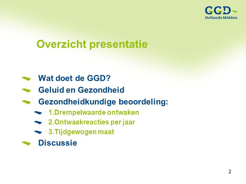 2Titel van de presentatie19-01-2007 2 Overzicht presentatie Wat doet de GGD.