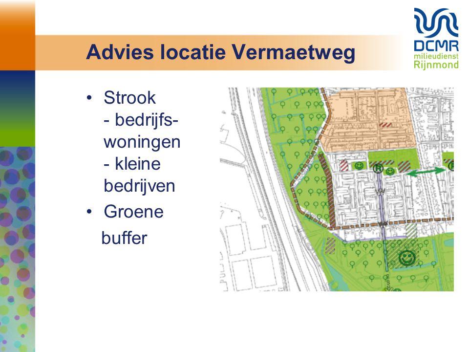 Advies locatie Vermaetweg Strook - bedrijfs- woningen - kleine bedrijven Groene buffer