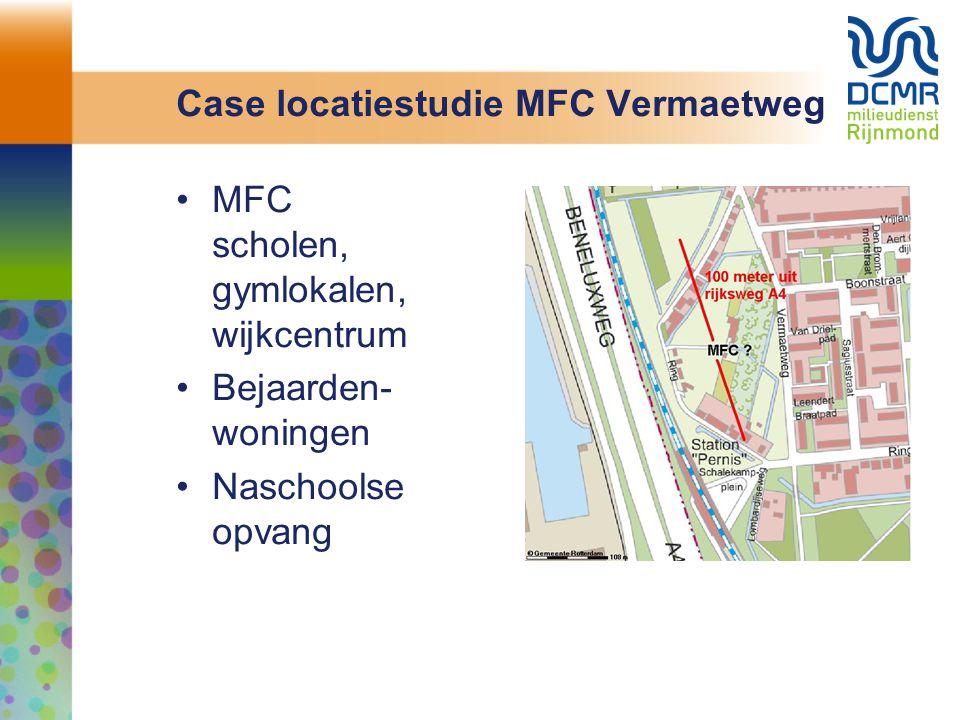 Case locatiestudie MFC Vermaetweg MFC scholen, gymlokalen, wijkcentrum Bejaarden- woningen Naschoolse opvang