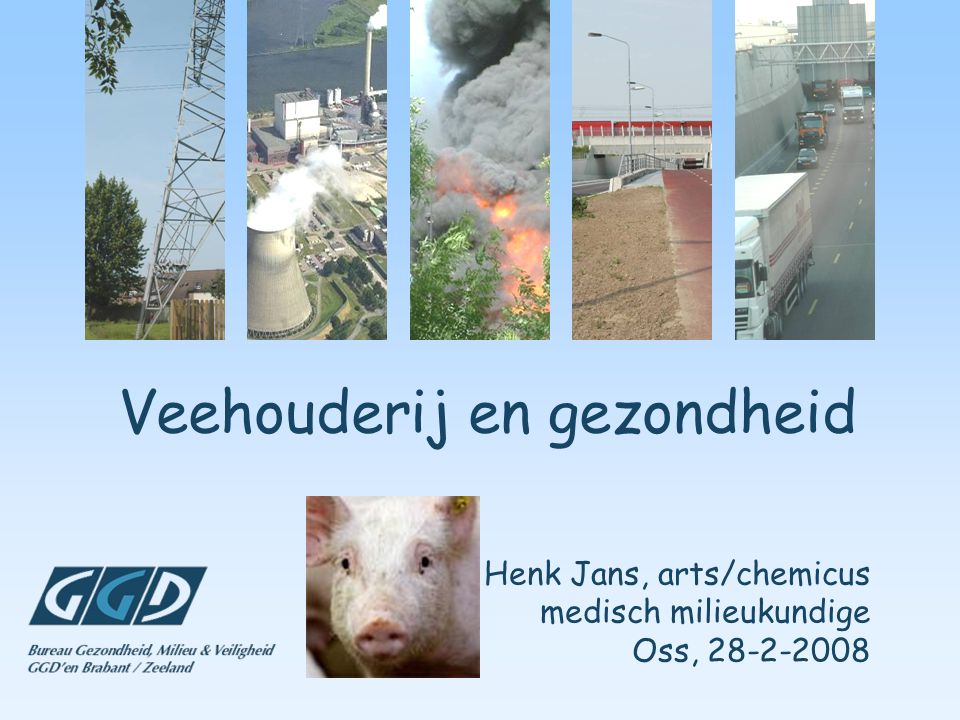 Veehouderij en gezondheid Henk Jans, arts/chemicus medisch milieukundige Oss, 28-2-2008