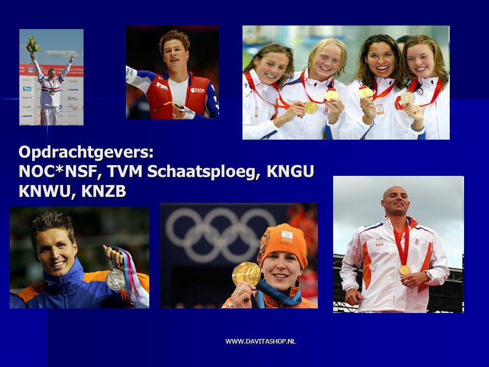 Opdrachtgevers: NOC*NSF, TVM Schaatsploeg, KNGU KNWU, KNZB WWW.DAVITASHOP.NL
