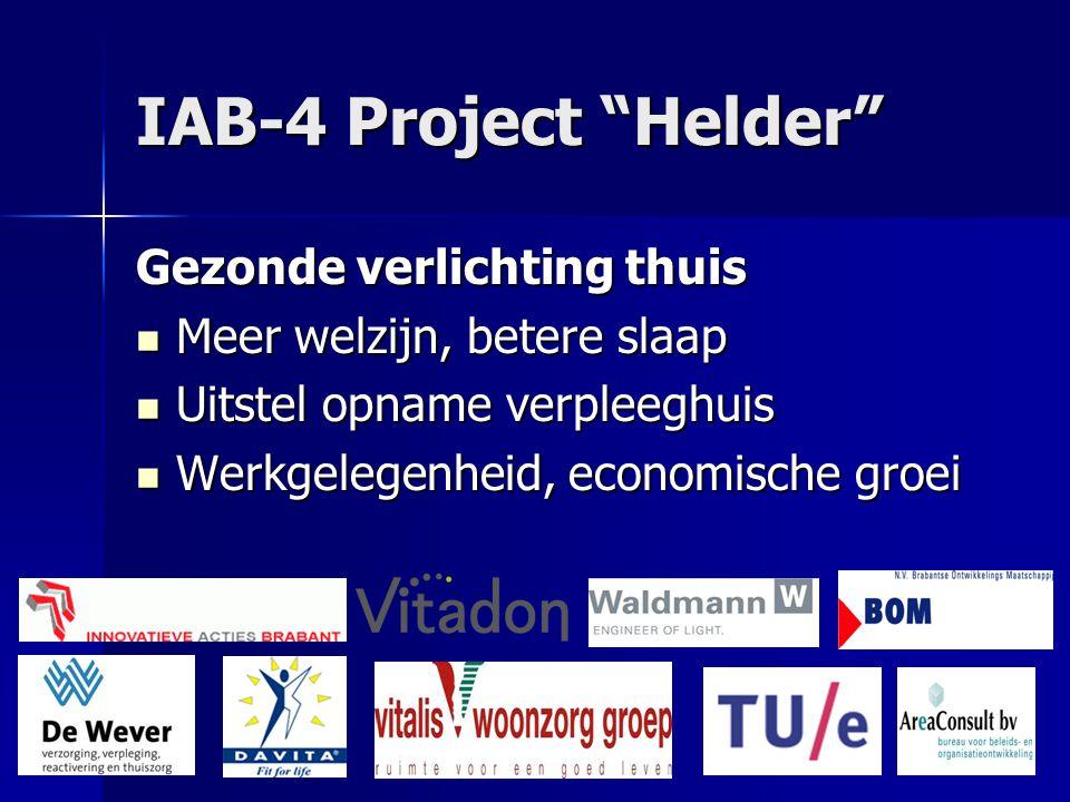 IAB-4 Project Helder Gezonde verlichting thuis Meer welzijn, betere slaap Meer welzijn, betere slaap Uitstel opname verpleeghuis Uitstel opname verpleeghuis Werkgelegenheid, economische groei Werkgelegenheid, economische groei WWW.DAVITASHOP.NL