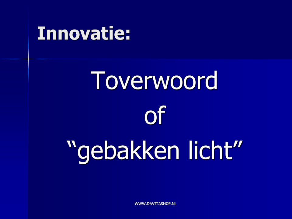 Innovatie: Toverwoordof gebakken licht WWW.DAVITASHOP.NL