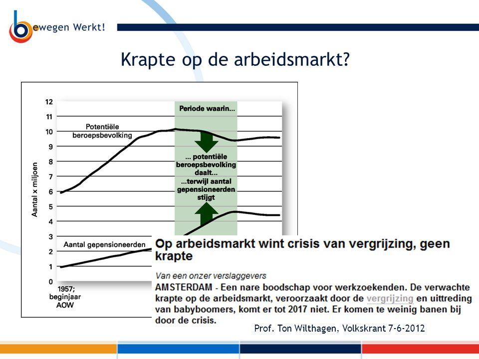 Krapte op de arbeidsmarkt? Prof. Ton Wilthagen, Volkskrant 7-6-2012