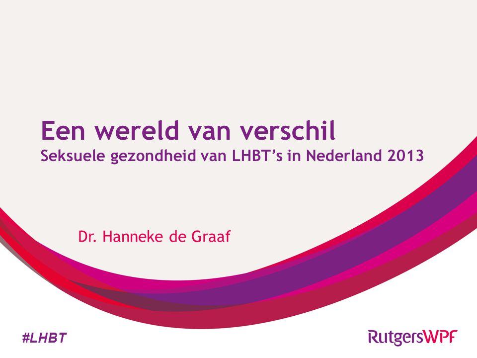 Een wereld van verschil Seksuele gezondheid van LHBT's in Nederland 2013 Dr. Hanneke de Graaf #LHBT