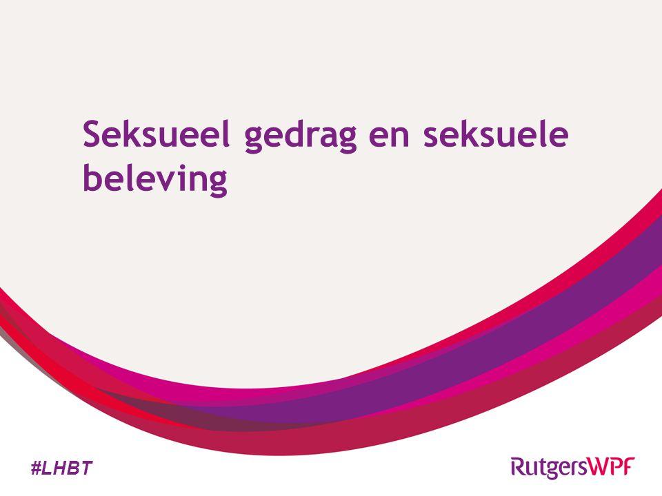 Seksueel gedrag en seksuele beleving #LHBT