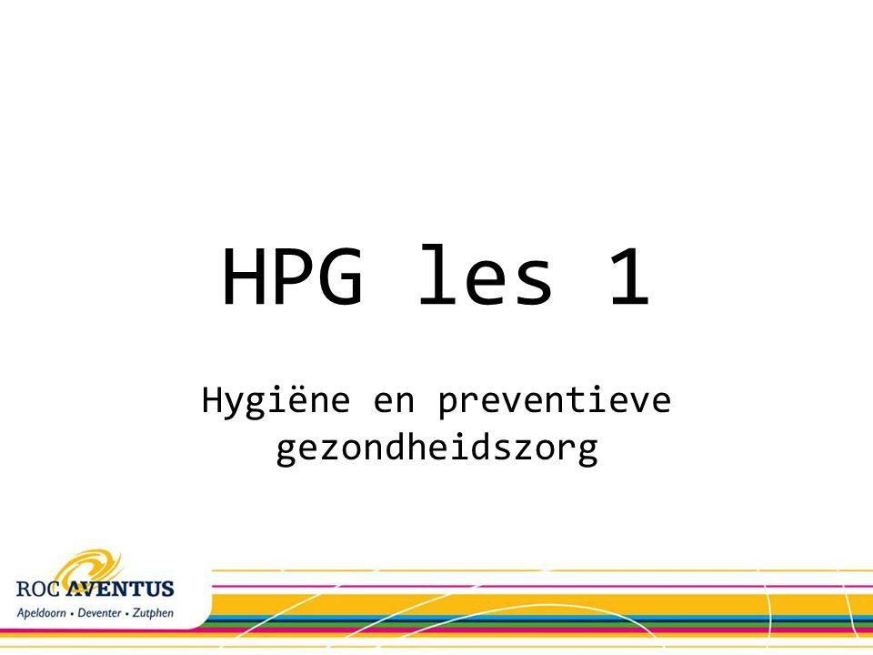 HPG les 1 Hygiëne en preventieve gezondheidszorg