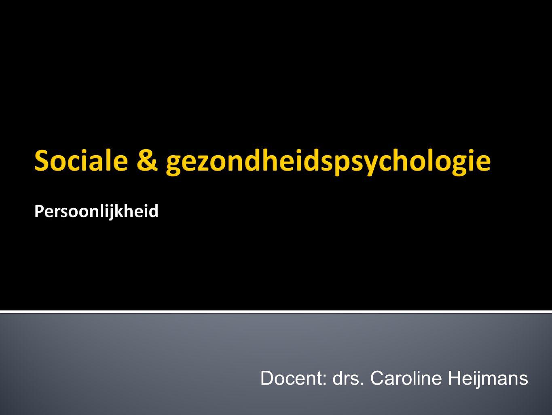  Relatie tussen thuisles en deze les  Theorie (pp) over persoonlijkheid  Opdracht persoonlijkheid en gezondheid  'Piramide van Maslow' (uitwerking opdracht in tweetallen)  'Cultuur & Gezondheid' (presentaties in subgroep)  Evaluatie van de les (c) drs.